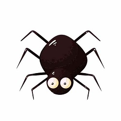 Disegno stilizzato di un ragno simpatico